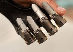 Prosthetic Fingers Can Be Bent